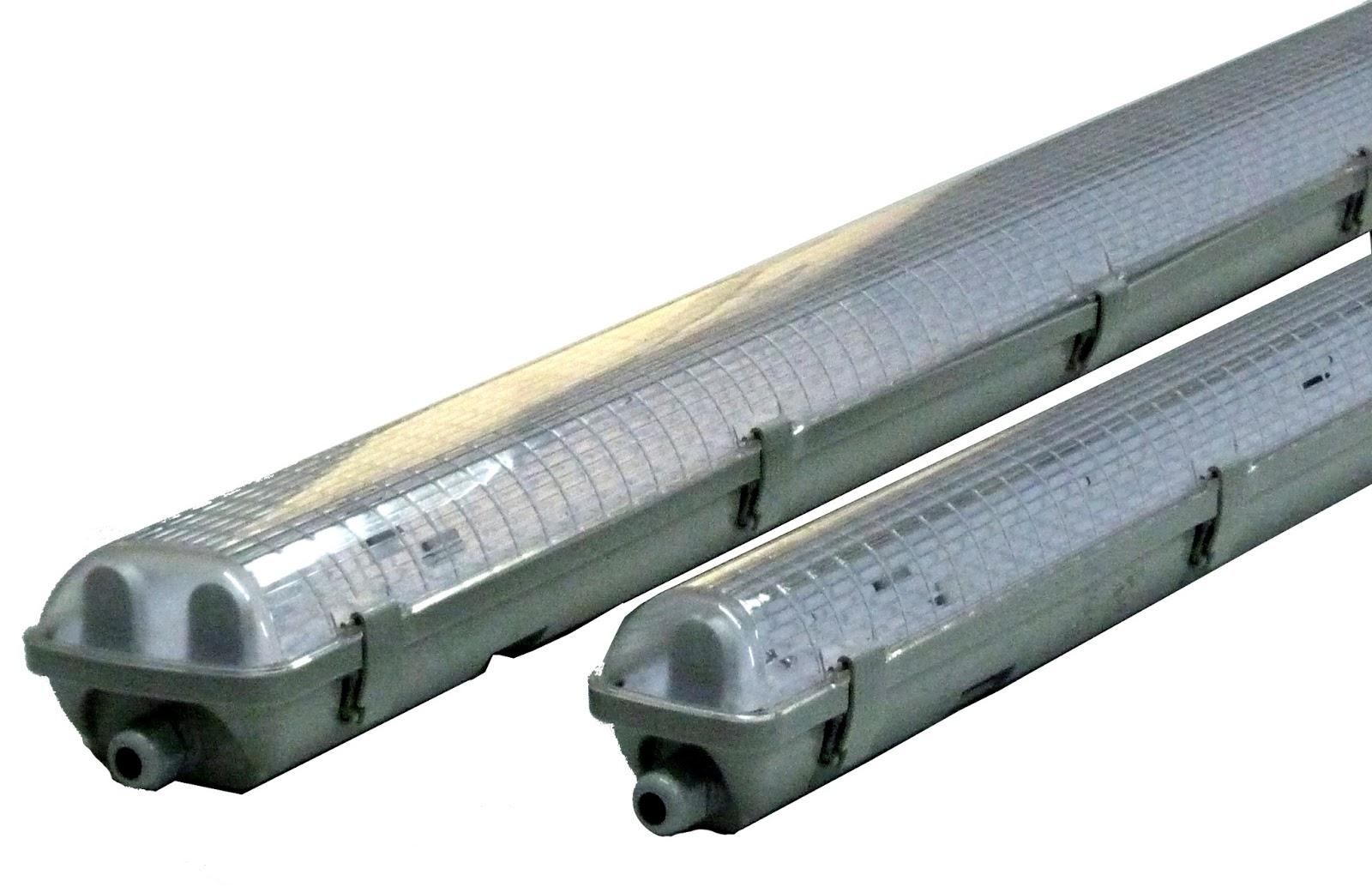 Illuminazione LED: Plafoniere stagne tubolari per tubi LED T8