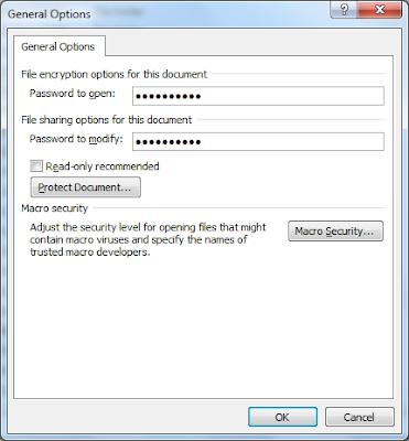 Cara Membuat Password Pada File Atau Dokumen Microsoft Word