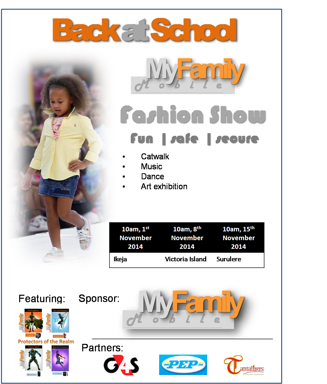 BACK AT SCHOOL FASHION SHOW - 1ST NOVEMBER 2014