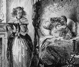 Marie Madeleine D'Aubray, Marquesa de Brinvilliers, envenenando a su padre
