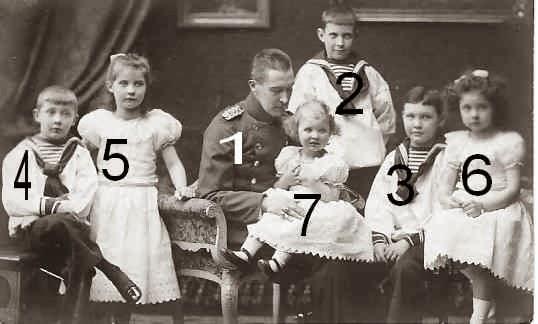 Albrecht duc de Wurtemberg et ses enfants