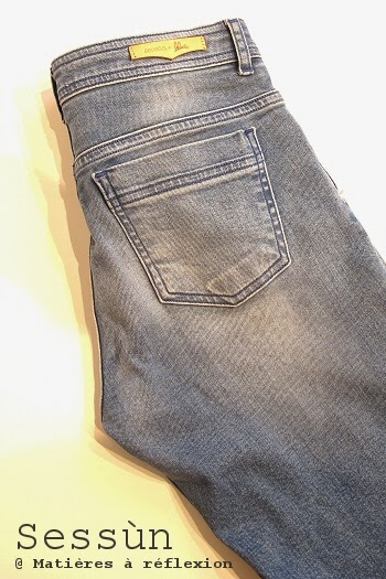 Jeans sessn stonefordpantalon coton bleu ciel délavé slim stretch