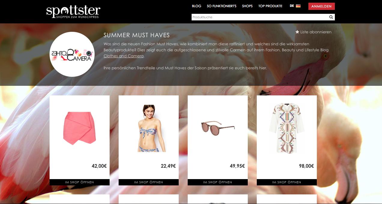 spottster online shopping
