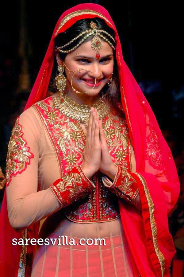 Prachi Desai in Designer Bridal Lehenga