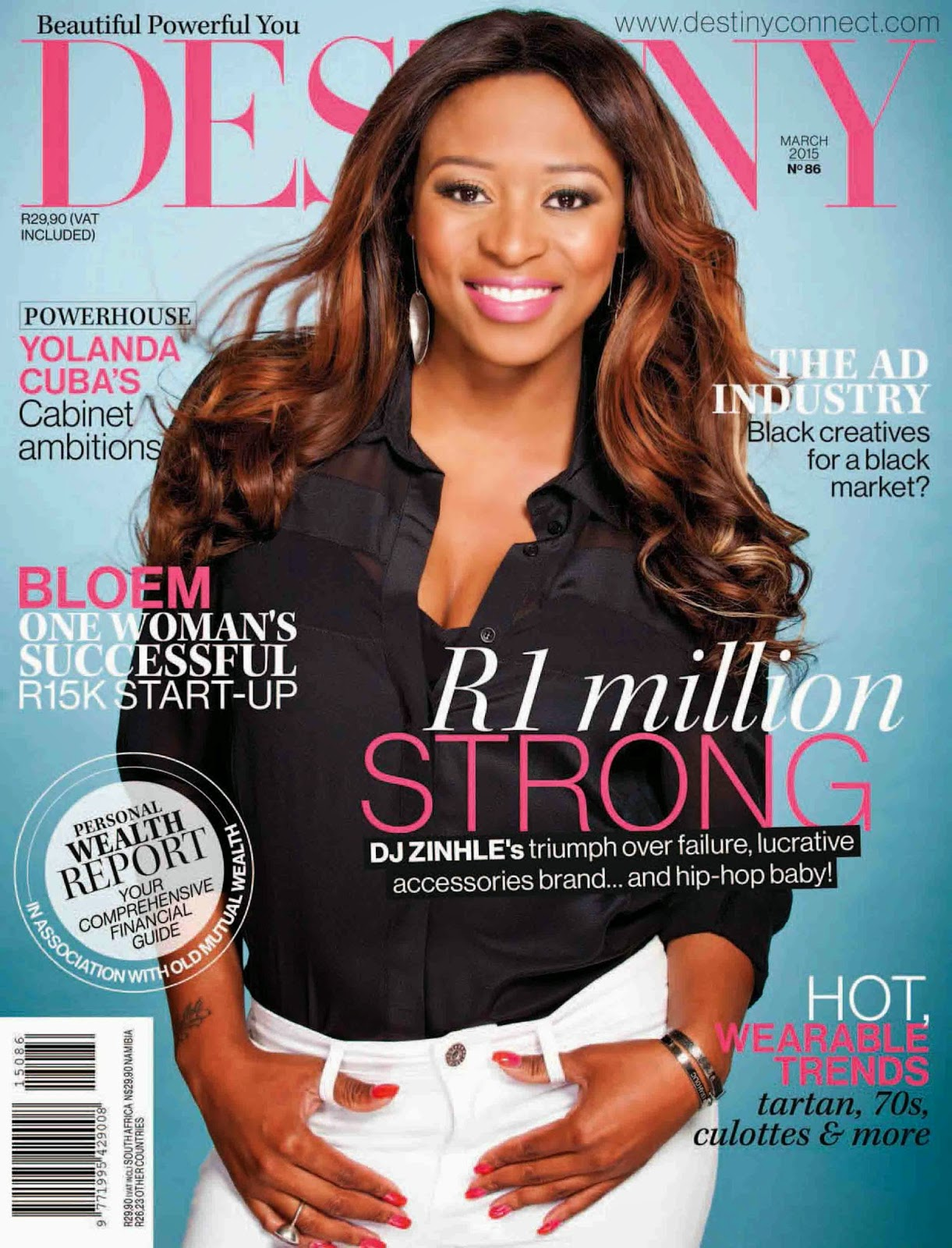 Musician, Band, Singer @ DJ Zinhle - Destiny Magazine, March 2015
