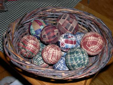 Wooden Fabric Balls