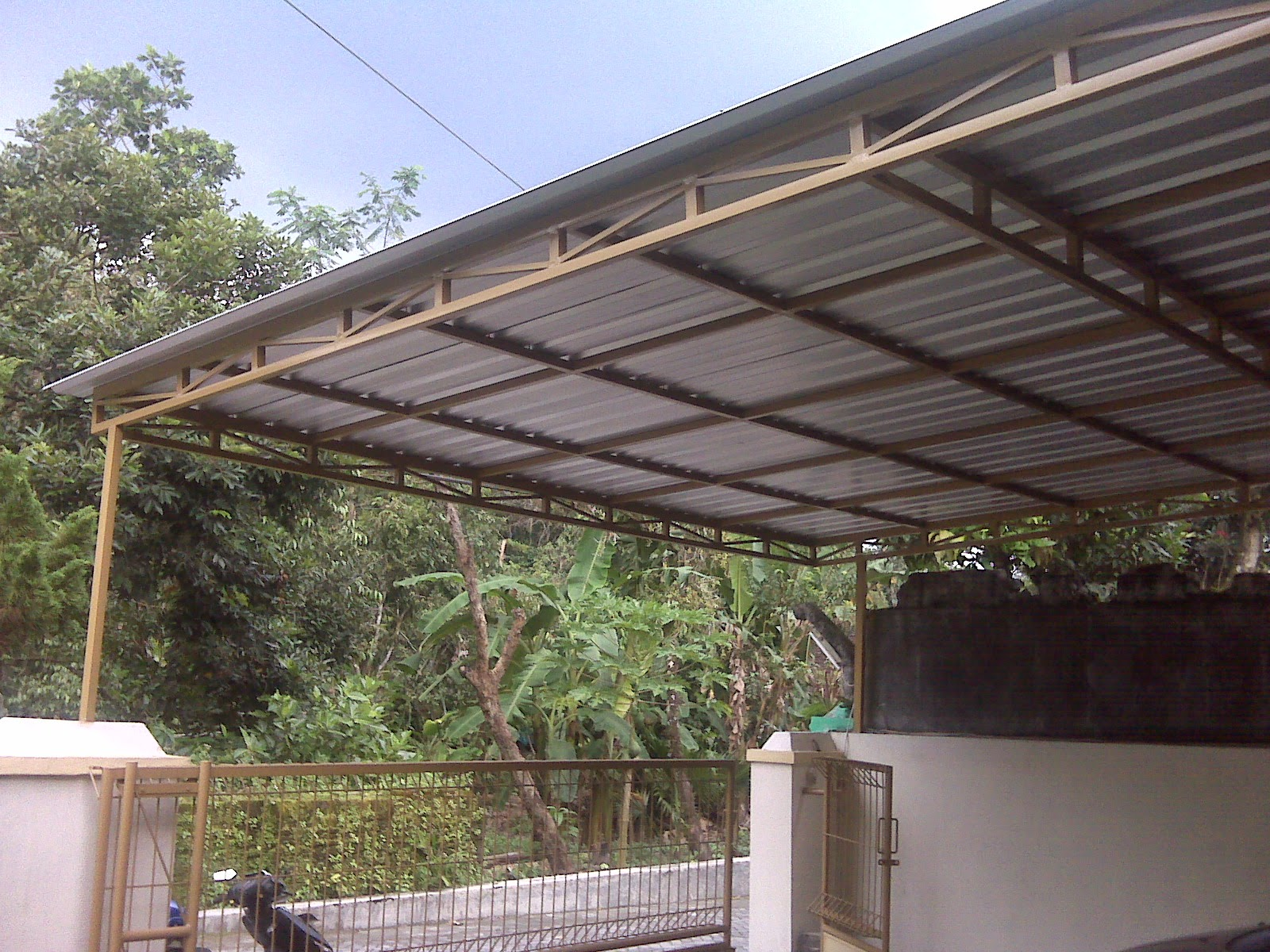 Kanopi minimalis murah jogja atap galvalum