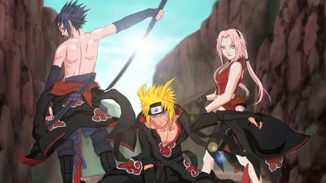 Sasuke Naruto Sakura (Akatsuki)
