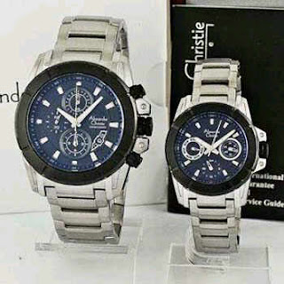 jam tangan couple original alexandre christie 6226
