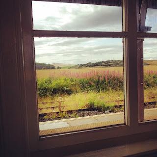 Vista dalla stazione di Leuchars, Scozia