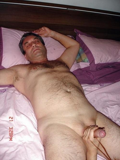 Dad Sleeping Nude