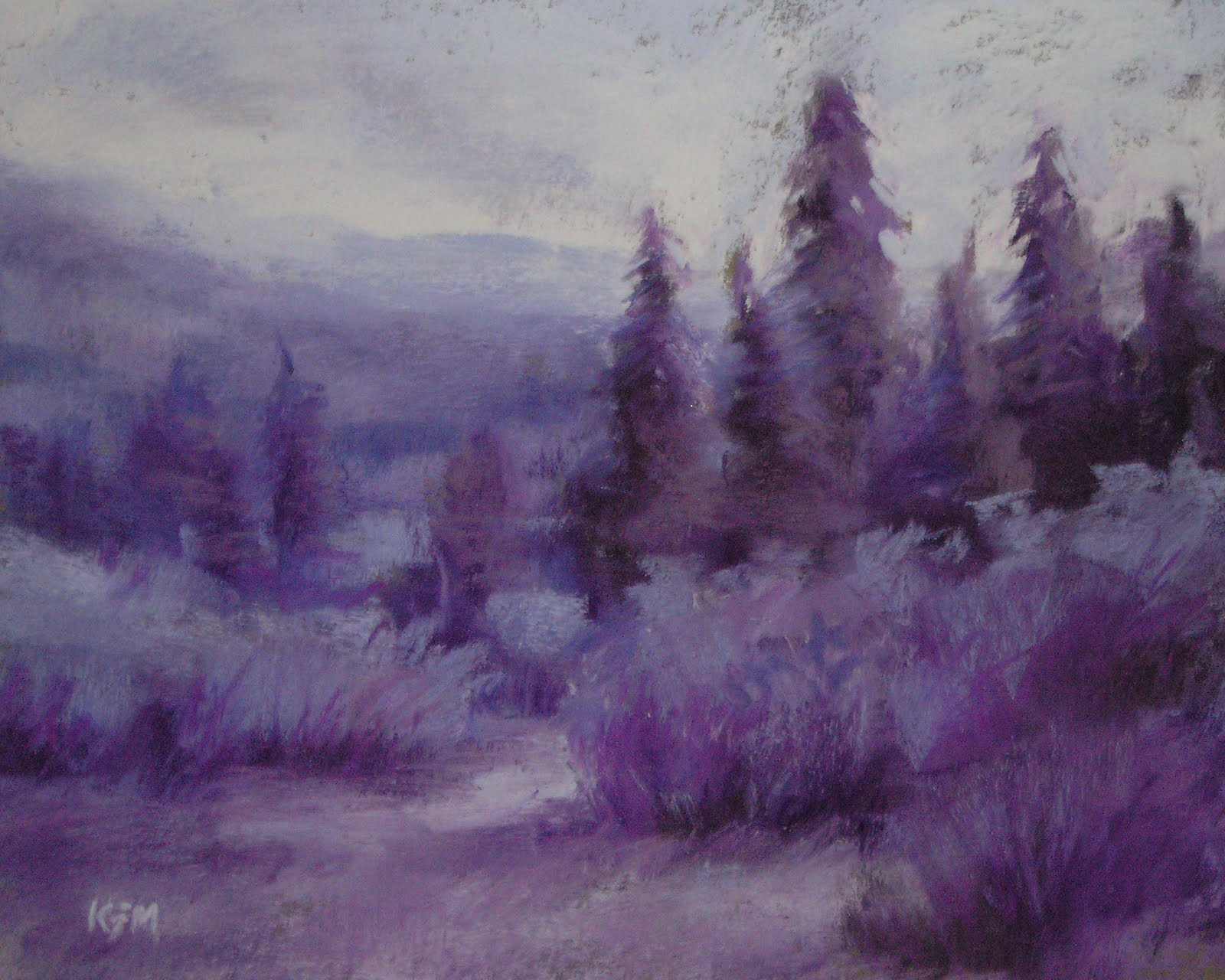Purple Mountains Majesty A Monochromatic Painting