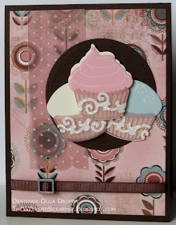 Cupcake card using PTI Cupcake Collection and Basic Grey Blush paper
