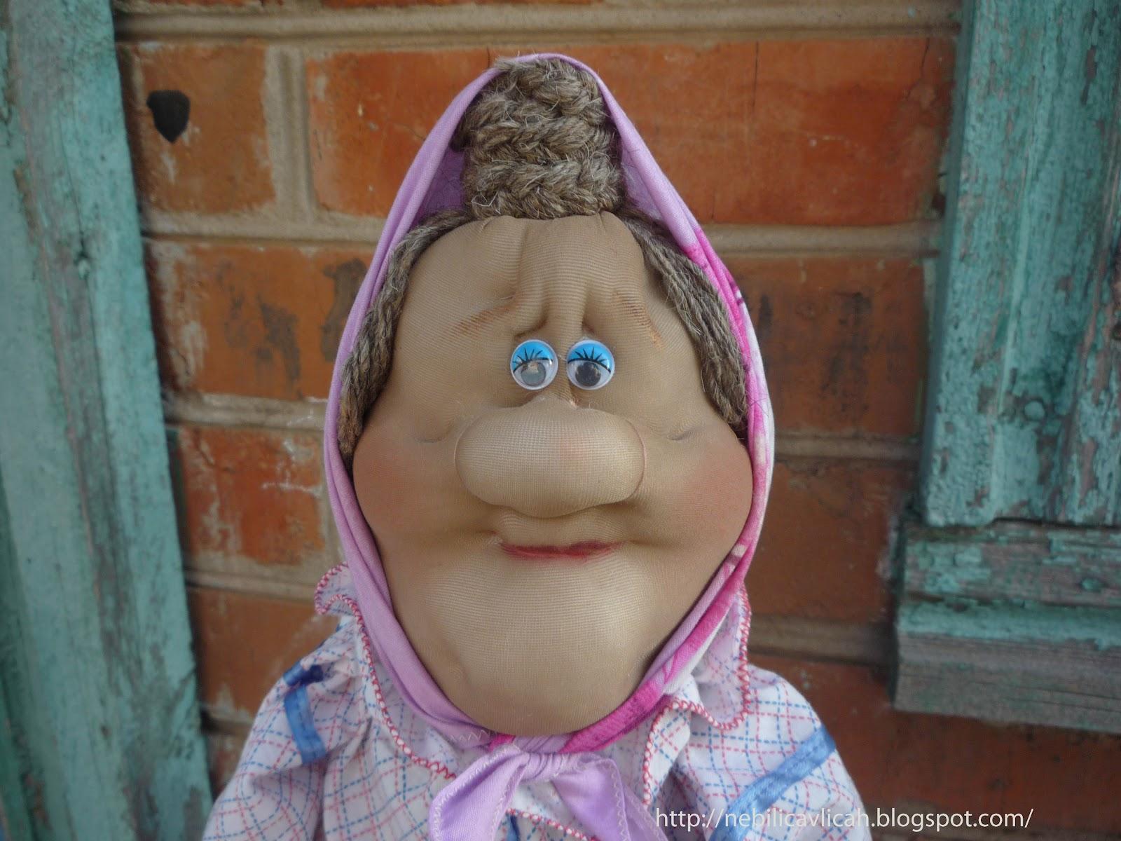 Чулочная кукла бабушка своими руками мастер класс 22