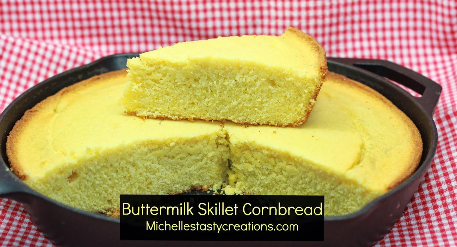 Michelle's Tasty Creations: Buttermilk Skillet Cornbread