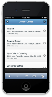 The Coffee+Coffee app Listings