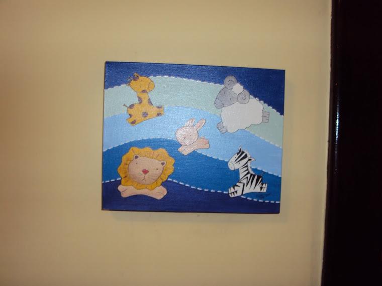 Tela Painel Infantil/fundo azul