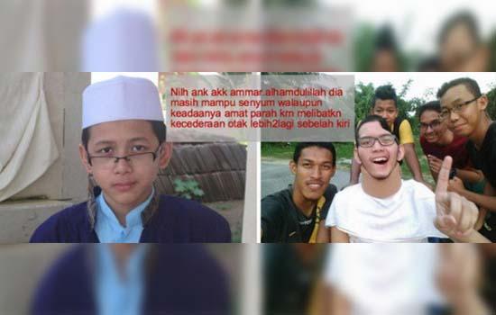 Pelajar Tahfiz Hafal 11 Juzuk Masih Mampu Tersenyum Walau Cedera Parah di Otak