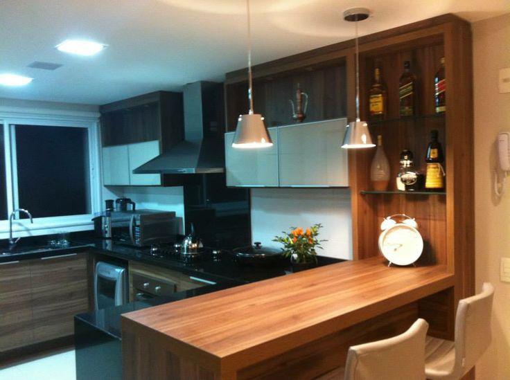 20 cozinhas modernas com bancadas pretas!  Jeito de Casa  Blog de Decoração # Bancada De Madeira Na Cozinha