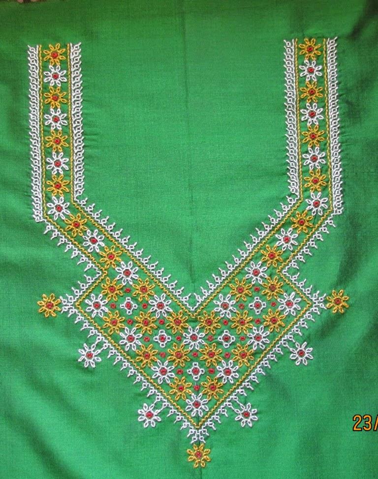 My Craft Works Kasuti Embroidery Yoke And Border