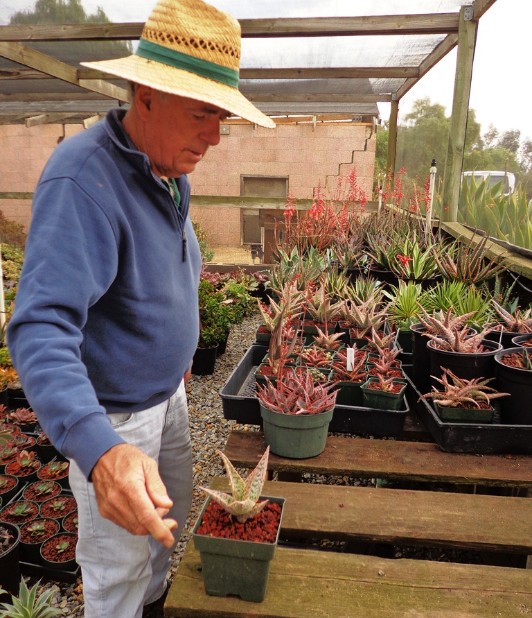 Buck Hemenway Above And His Wife Whom You Shall Meet Shortly Started This Nursery To Support Their Serious Addiction All Things Succulent