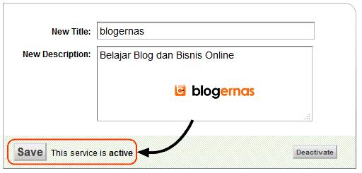 Cara Aktifkan SEO Title dan Deskripsi Feedburner Blog