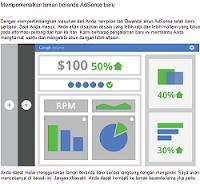 Tampilan Baru Beranda Google Adsense