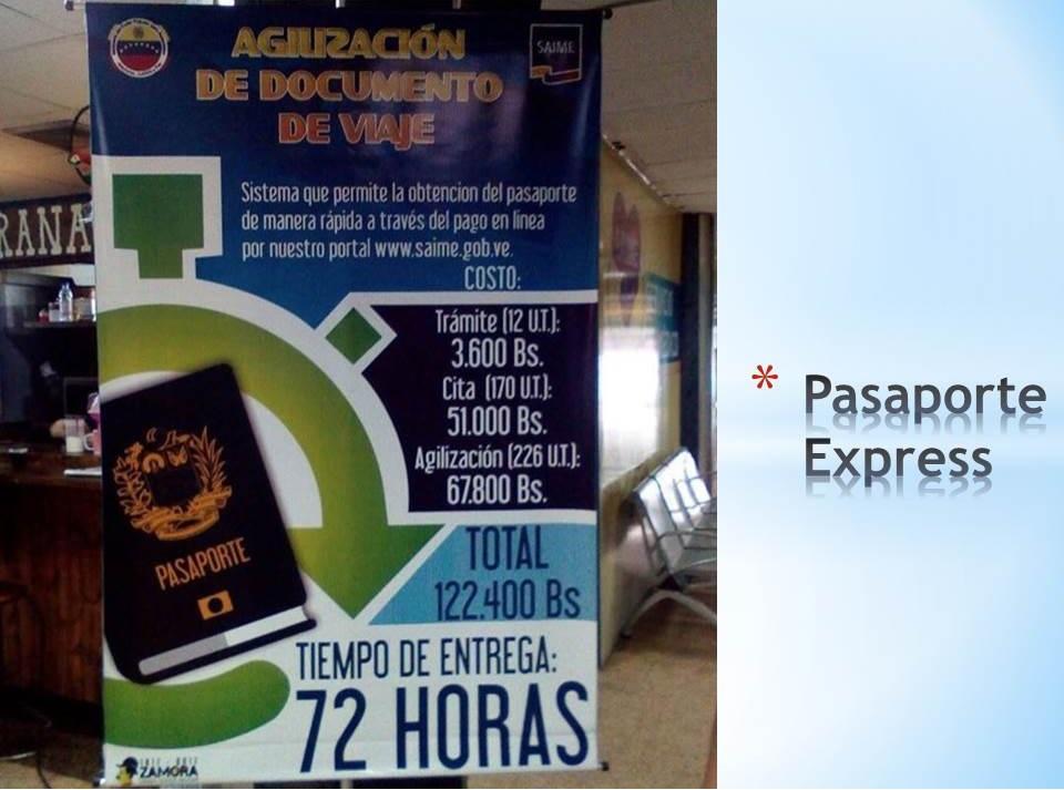 Pasaporte Express Venezuela