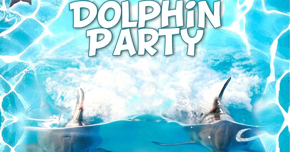 free kids party invitations  dolphin party invitation
