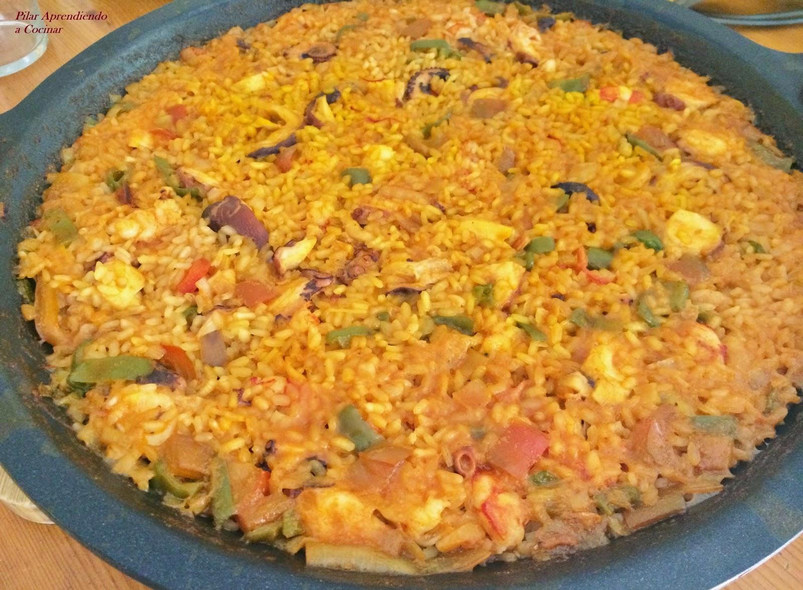 Aprendiendo a cocinar arroz con pulpo y gambas Cocinar con 5 ingredientes