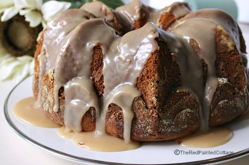 Pumpkin Pound Cake with Brown Butter Icing - Dwellings-TheHeartofYourHome.com