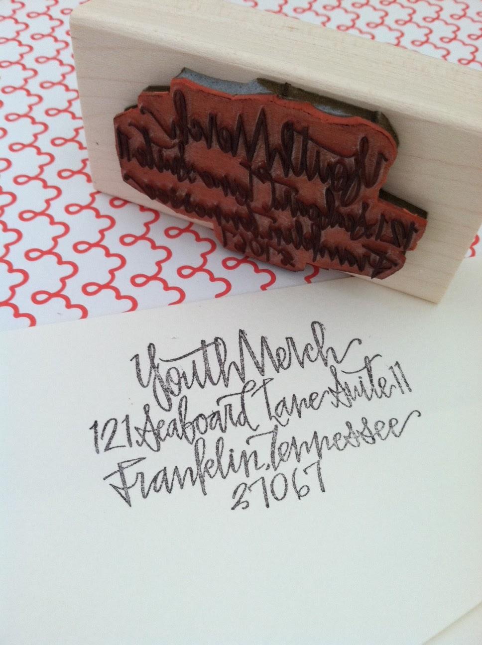 Hardink Calligraphy Custom Stamps