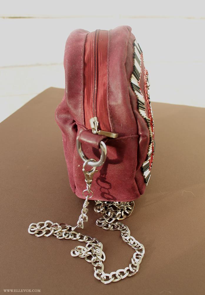 handmade sequined clutch
