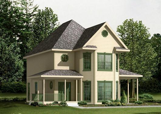 Plano de casa de campo de dos pisos tres dormitorios y for Planos de casas rurales