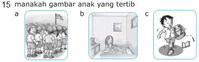 Soal Soal UAS PKn Kelas 1 SD Semester 1/Ganjil KTSP
