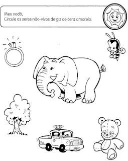 Atividades Educacao Infantil Meio Ambiente Seres Vivos Ecologia Animais Exerc Desenhos