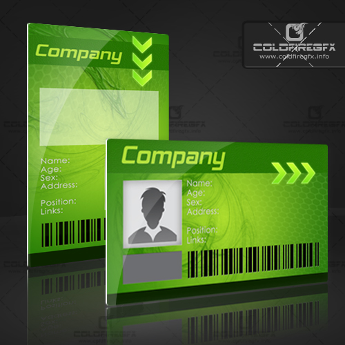 Photo ID Card PSD http://xonek.blogspot.com/2011/07/business-id-card-psd-template.html