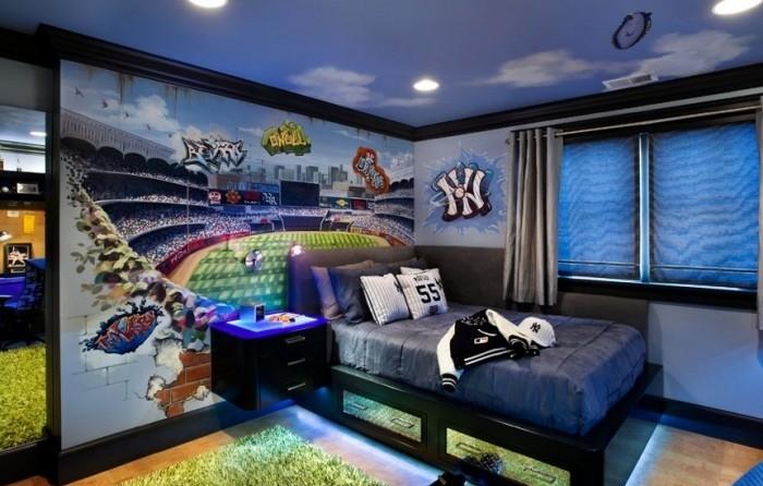 Dormitorio temático donde vemos como tema, las carreras y el estilo