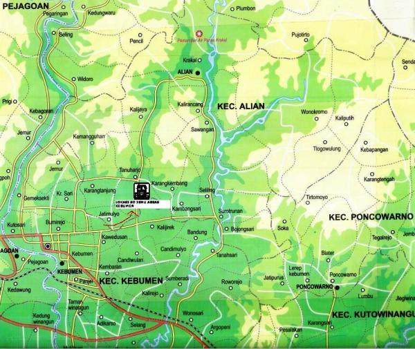 peta SDIT Ibnu Abbas Kebumen