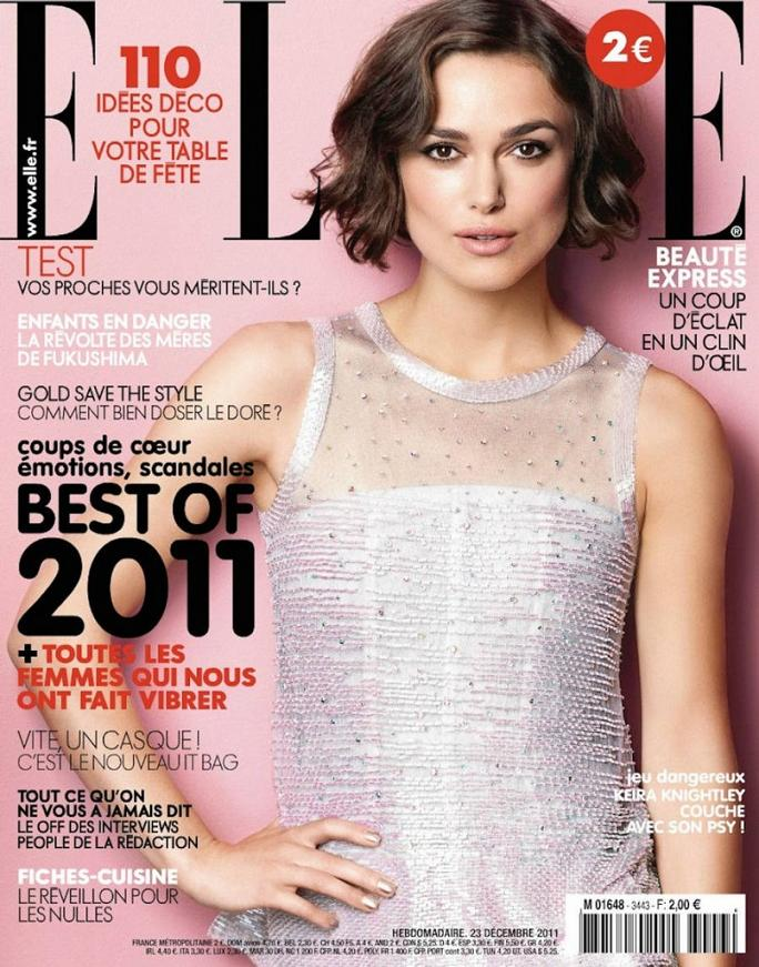Keira Knightley fronts Elle France, December 2011