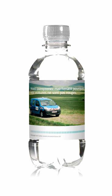 bouteille personnalisée aux couleurs d'ERDF