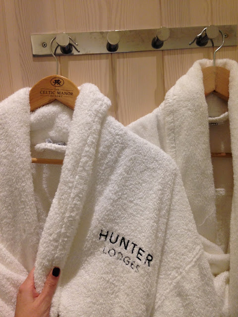 White Bathrobes in the Hunter Lodges Celtic Manor
