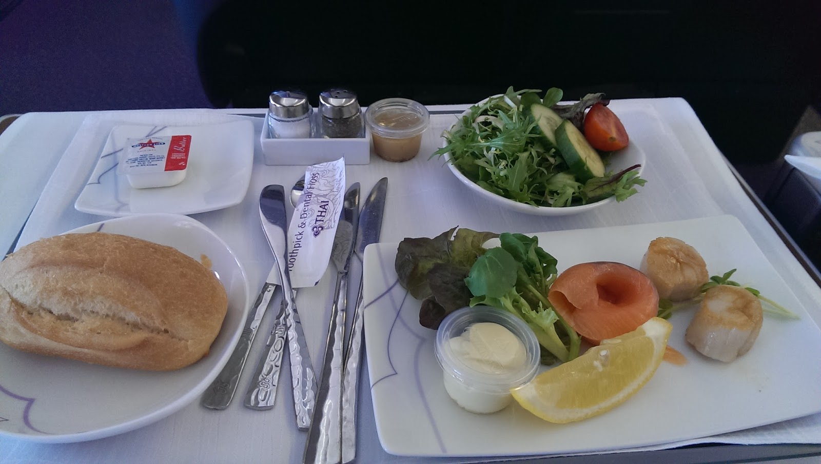Thai airways business class meals syd bkk globalgoodfood for Air thai cuisine
