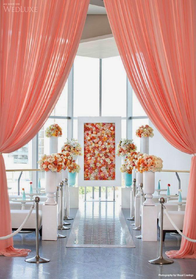 Decoração Casamento cor Coral