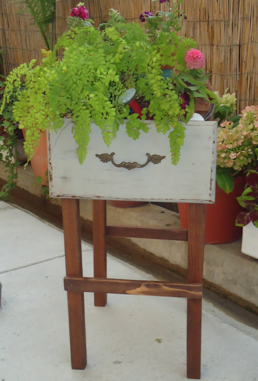 Repurposed Drawer Plant Stand - SOLD