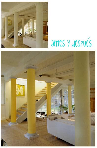 Pintar columnas decorar tu casa es - Decorar columnas salon ...