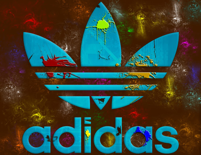 colourful adidas logo