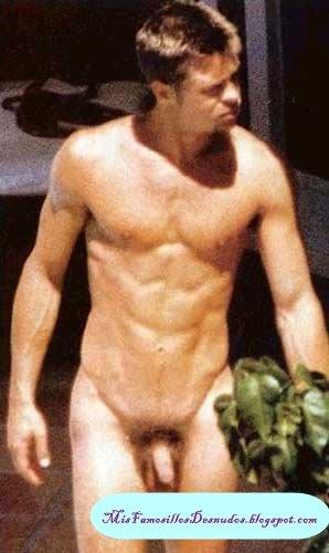 hombres famosos desnudos brad pitt desnudo