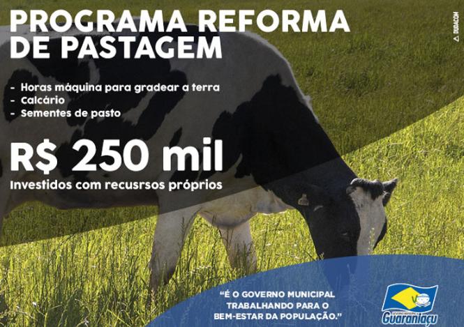 Guaraniaçu - Programa Reforma de pastagem