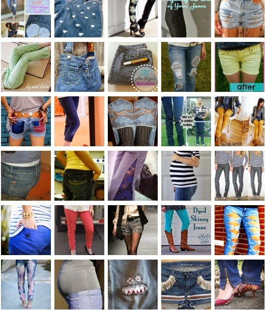 70+ Awesome Jeans DIY Projects Refashioning, Slimming, Transforming